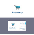 flat cart logo and visiting card template vector image vector image