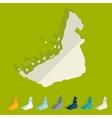 Flat design United Arab Emirates vector image