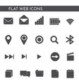 flat web icons 12442 vector image vector image