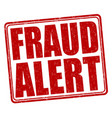 fraud alert stamp vector image