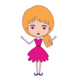 girly fairy without wings and blonde hair in vector image vector image