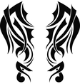 Graphic design Tribal tattoo wings vector image vector image