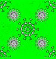 green outline floral decor eastern style element vector image