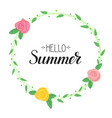 hello summer handwritten text and picture of vector image