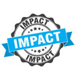 Impact stamp sign seal vector image