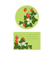 labels with strawberries vector image vector image