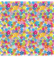 multicolored floral seamless pattern vector image vector image