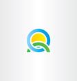 nature landscape icon letter q logo vector image vector image