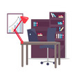 office working place set vector image vector image
