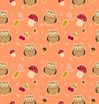 Pattern with owls vector image