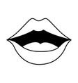 pop art lips icon vector image vector image