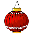 Red lantern vector image