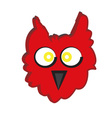 red owl vector image vector image