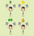 savings finances and economy concept vector image