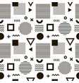 seamless abstract pattern with black geometric vector image vector image