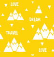 seamless pattern made of mountains words vector image vector image