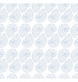 seamless pattern with seashells on white vector image