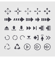 set different arrows signsymbol vector image