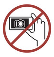 sign of do not photography vector image