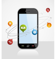 smartphone Connection application vector image vector image