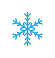 snowflake icon design template isolated vector image