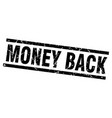 square grunge black money back stamp vector image vector image