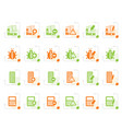 stylized 24 business office and website icons vector image