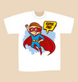 t-shirt print design superhero dad vector image vector image