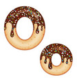 tempting typography font design 3d donut letter o vector image vector image