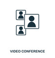 Video conference icon mobile app printing web