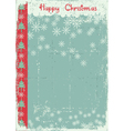vintage christmas card on old paper background vector image