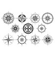 vintage compass nautical map directions vintage vector image vector image