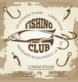 vintage grunge fishing poster vector image vector image
