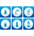 water and plumbing icon set vector image