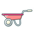 wheelbarrow icon cartoon style vector image vector image