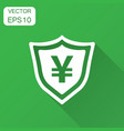 yen yuan shield money currency icon in flat style vector image