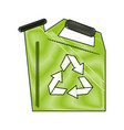 recycle water can vector image