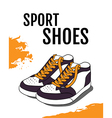 Sport shoes poster vector image
