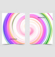 abstract background round futuristic wavy vector image vector image