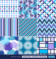 Abstract background with blue geometric shapes vector image vector image