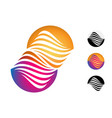 abstract round symbol isolated vector image vector image