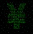 abstract sign yuan binary code technology vector image vector image