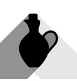 amphora sign black icon with vector image vector image
