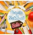 Back to school Sale EPS 10 vector image