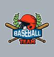 baseball badge logo emblem template baseball team vector image vector image