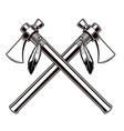 black and white of the tomahawks vector image vector image