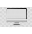 blank screen computer icon isolated on white vector image