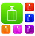 bottle of female perfume set color collection vector image vector image