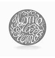 Calligraphic hand drawn lettering poster Home vector image