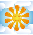 cartoon smiling sun vector image